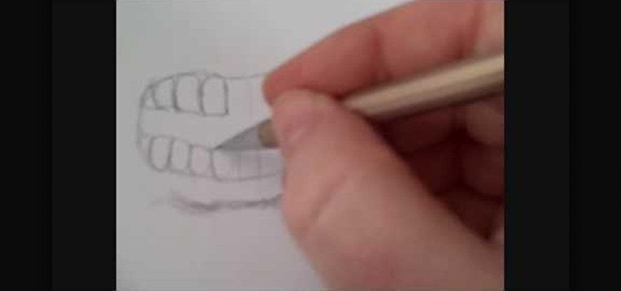 Mouth Illustration Drawing Draw an Angry Human Mouth