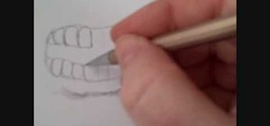 Draw an angry human mouth