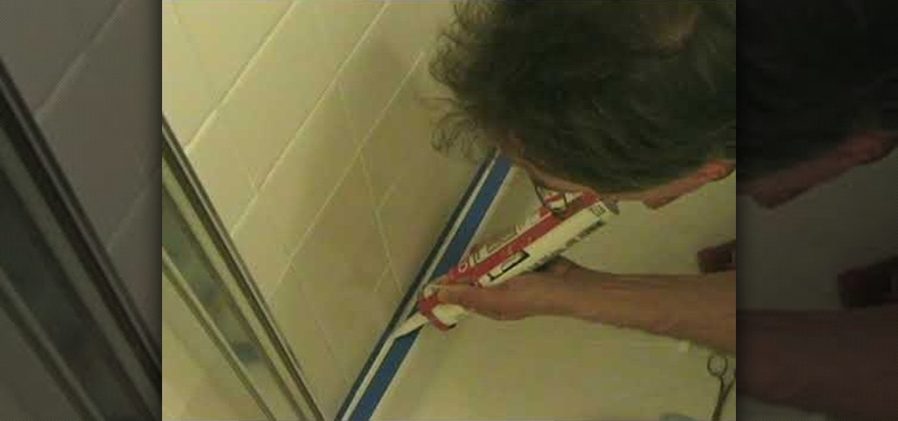 how to caulk your shower with a mold inhibitor