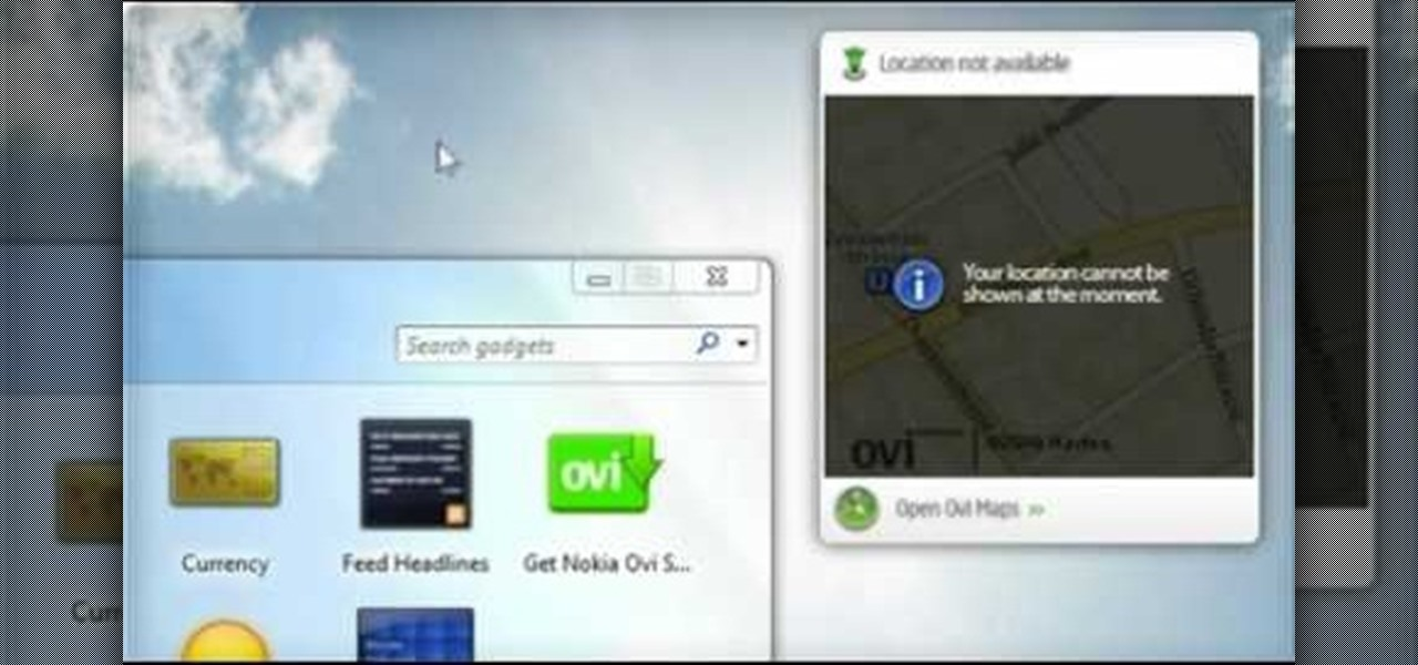 How to Use the Maps gadget on a Nokia Booklet 3G netbook to