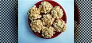 Make your own popcorn balls with  mini marshmallows and caramel