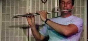 Play a Bb minor chord with arpegio on flute