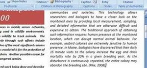 Use the bibliography feature in MS Word 2007
