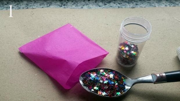 How to Make a Spring-Loaded Glitter Bomb