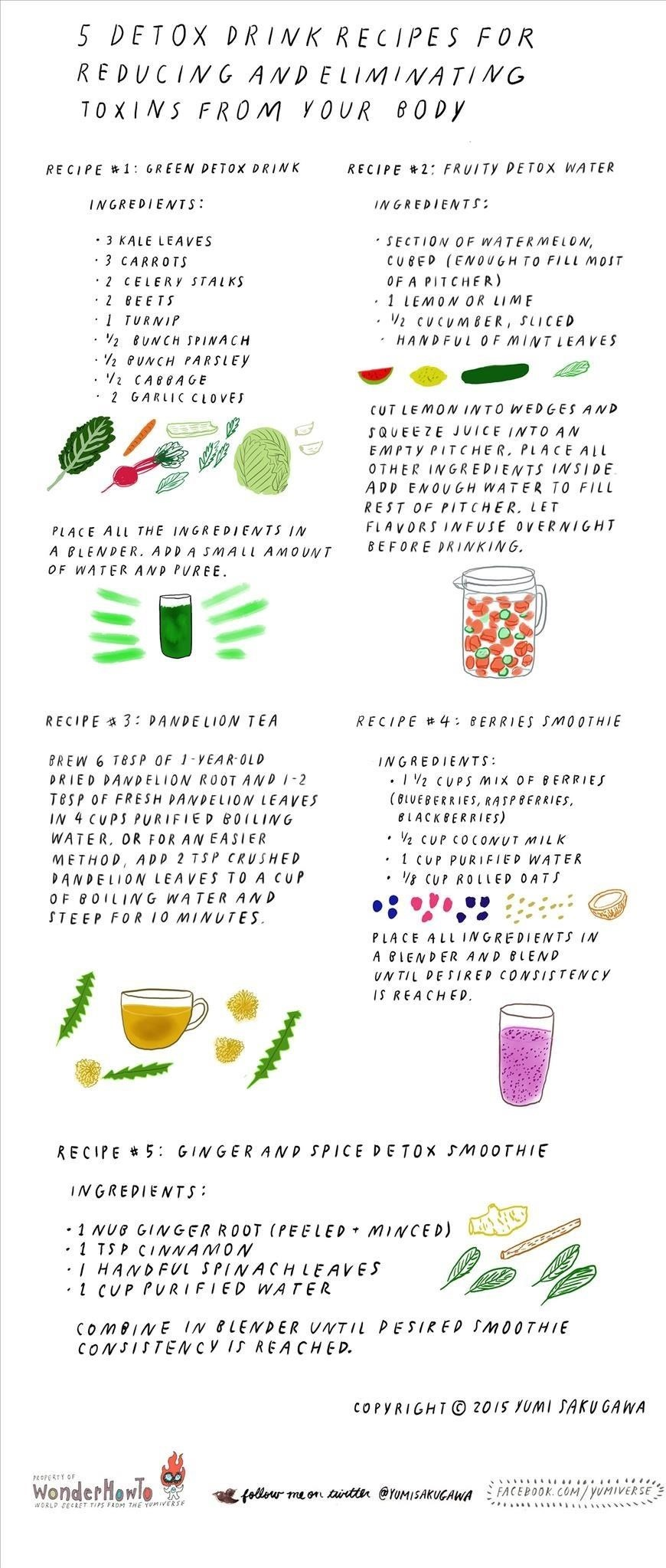5 Detox Drink Recipes for Reducing & Eliminating Toxins from Your Body