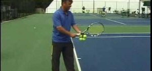 Serve a tennis ball with some basic rules