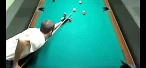 Do an 8-ball position play in pool
