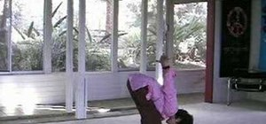Practice a cactus arm headstand prep for yoga
