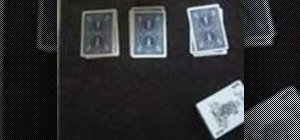 Perform a 3 piles card trick