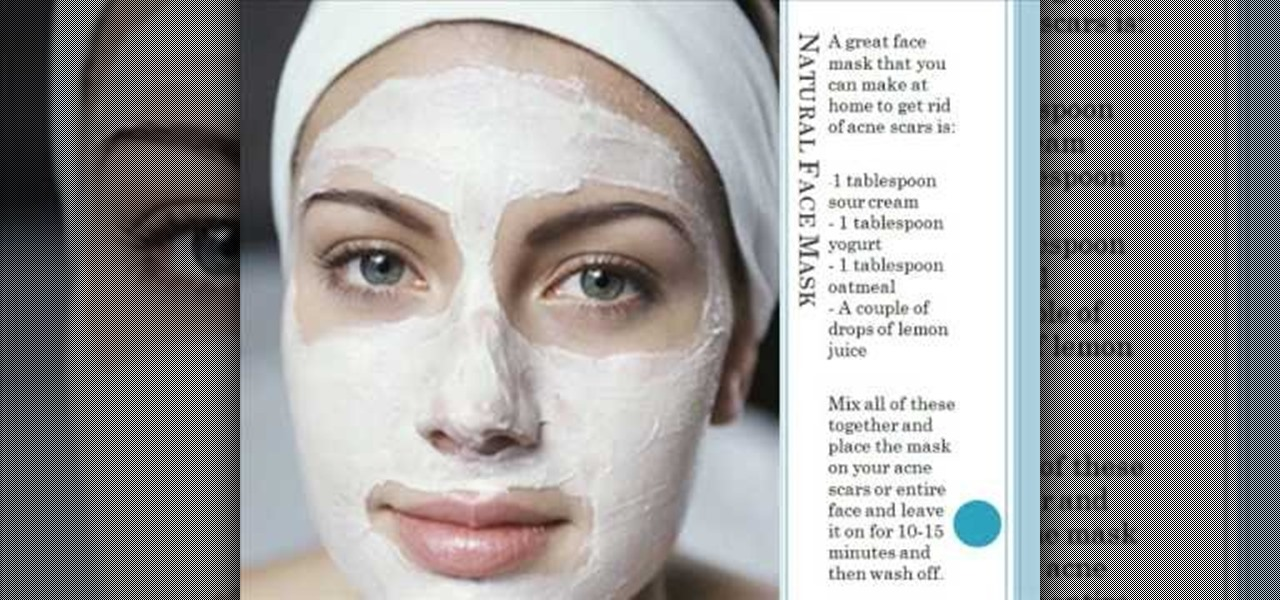 How to Get rid of acne scars using materials found from home ...