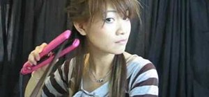 Style a Japanese style high ponytail