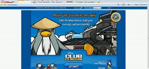 Throw snowballs fast on Club Penguin