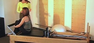 Mobilize the thoracic spine with a Pilates Reformer