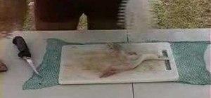 Fillet a flathead fish