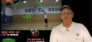 Get the perfect shooting arc in basketball