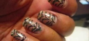 Create an ombre zebra nail design