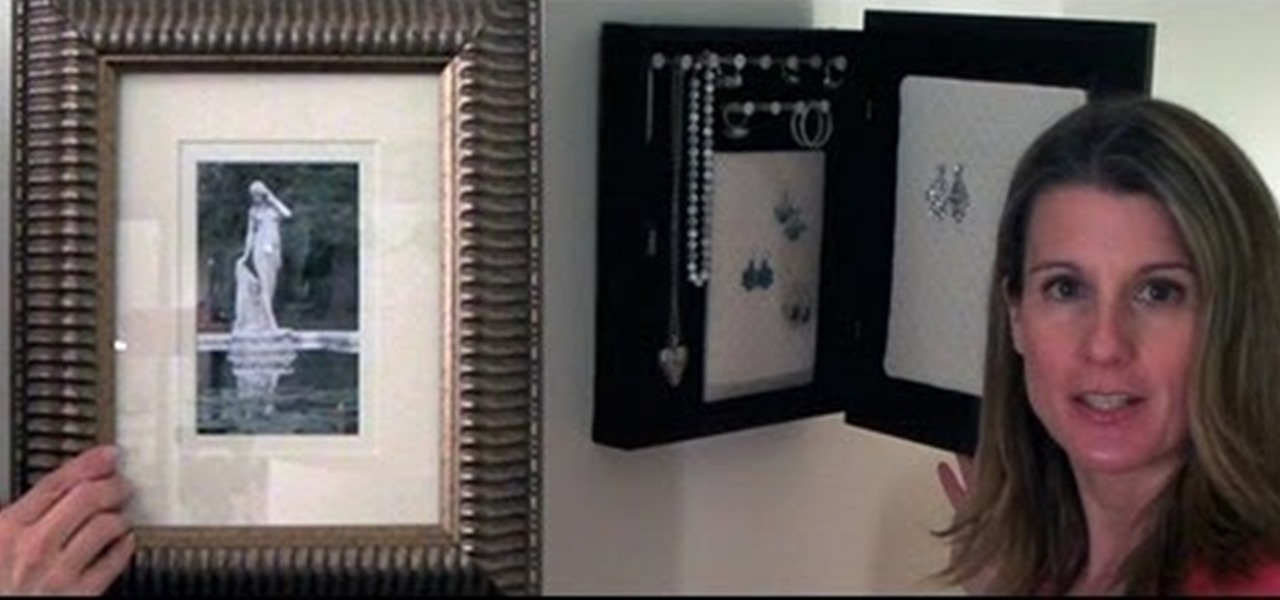 Make a Picture Frame Jewelry Organizer