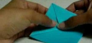 Origami a perky goldfish