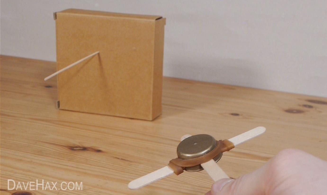How to Make a Mini Crossbow from Bottle Caps & Popsicle Sticks