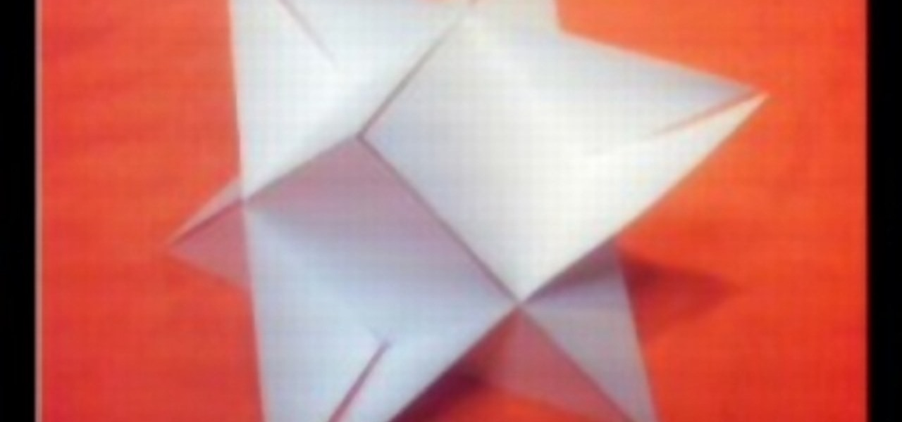 How To Origami A 3D Triangle Star WonderHowTo