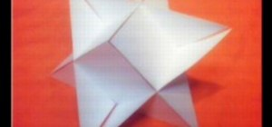 Origami a 3D triangle star