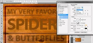 Use the Bevel and Emboss filters in Adobe Photoshop CS5