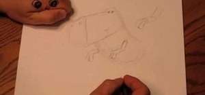 Draw a simple cartoon dinosaur