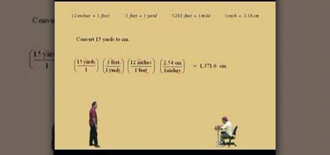 How to Convert measurements in pre-algebra « Math :: WonderHowTo