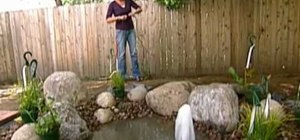 Design a small water feature in your yard