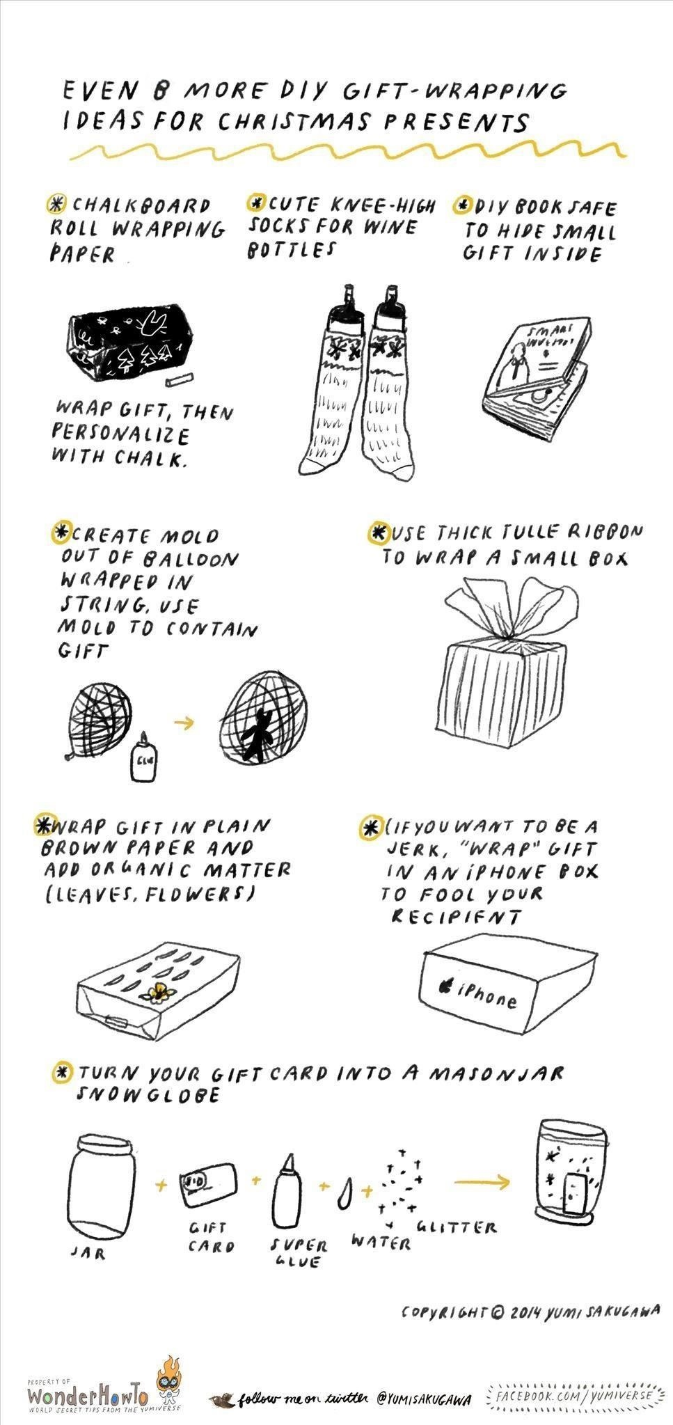 Even 8 More DIY Gift-Wrapping Ideas for Christmas Presents