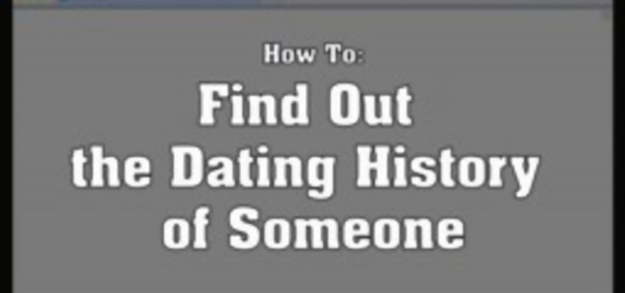 How to see if someone is on a dating website