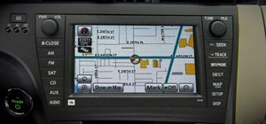 Use the navigation system in a 2010 Prius