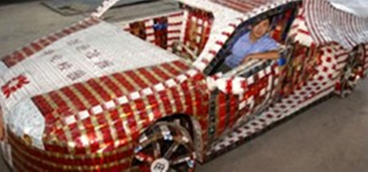 working bugatti veyron built with 10 000 empty cigarette. Black Bedroom Furniture Sets. Home Design Ideas
