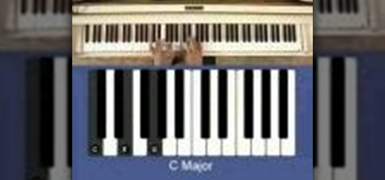 playing piano how to play the major c triad Major triad piano chord  simply lower the f# to f and now you're playing a minor third  in this case c) then, go to the third tone and play that tone's.