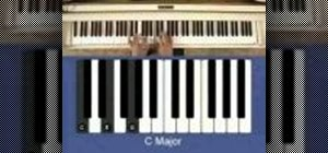 Play a C minor chord on the piano