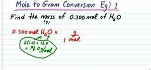 Convert from moles to grams in chemistry
