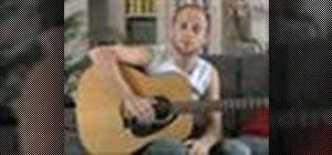 Play C Am F G chord progressions on the guitar