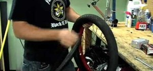 Change a flat BMX tire