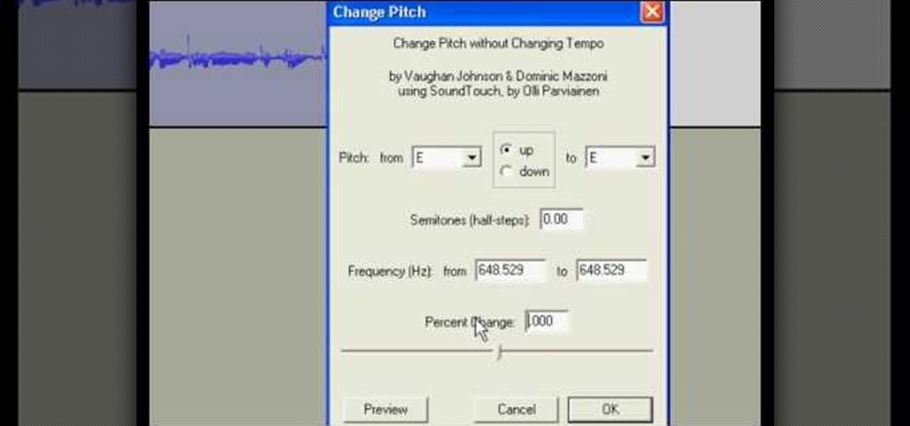 How to change the pitch amp formant of your voice with audacity