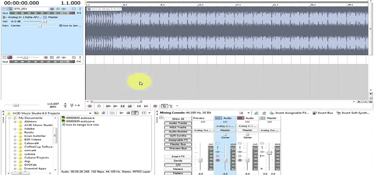 How to Use loops and beatmapping in Sony Acid Studio