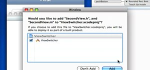 Switch views in an iPhone application with View Controllers