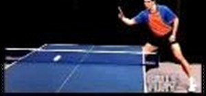 Do the backhand block in ping pong