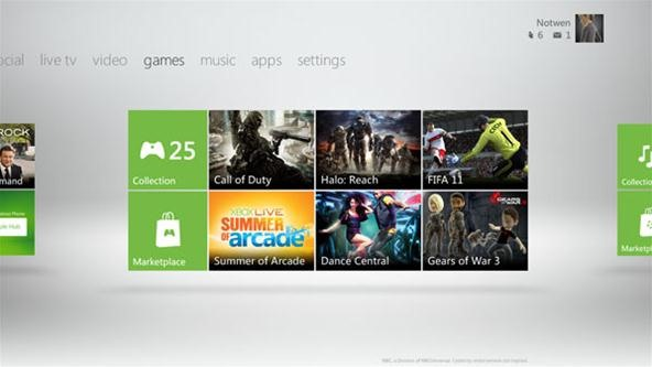 Sneak Peak: Xbox Live's Metro User Interface (Coming in November)