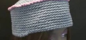 Make a cozy kufi box crochet hat for right handers