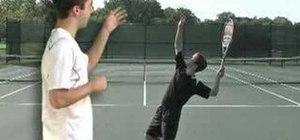 Practice the leg push in tennis serve