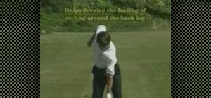 Use the golf swing plane drill