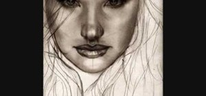 Draw a realistic female face
