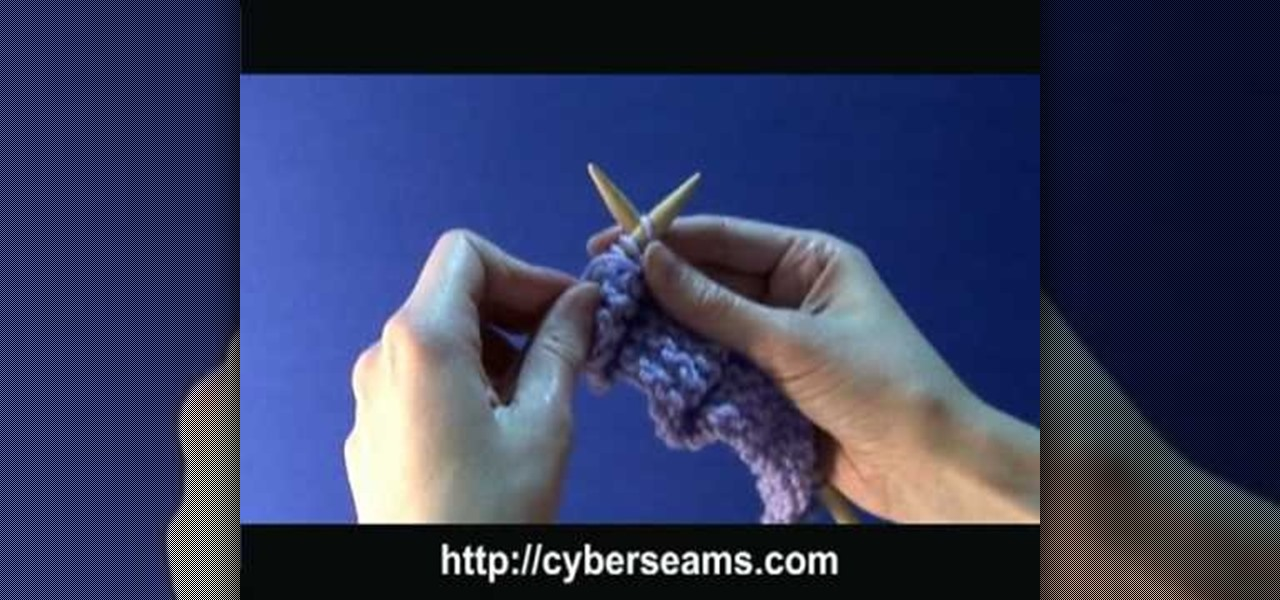 How To Knit The Purl Stitch Left Handed Knitting Crochet