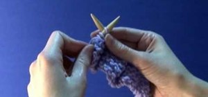 Knit the purl stitch left handed