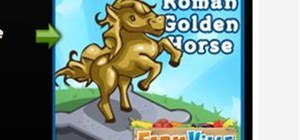 FarmVille Roman Golden Horse - Mafia Wars Promo